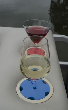 Whether it's cocktails or wine, our Wine Widgy's will protect you from spills and embarrassment!   www.winewidgy.com wine, cocktails, unique gifts, boats, boating accessories, unique gitfs, stemware, made in Michigan, Michigan products, Made in the USA