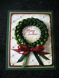 Another christmas ribbon wreath