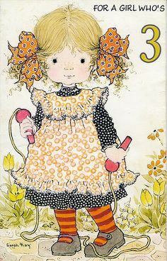 Sarah Kay - skipping was a huge thing for us - Double Dutch! Sarah Key, Holly Hobbie, Sara Key Imagenes, Cute Images, Cute Pictures, Paper Embroidery, Embroidery Patterns, Vintage Greeting Cards, Illustrations