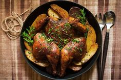 Smoked Paprika and Oregano Roast Chicken (Made this for dinner tonight.  It was delicious.  Found out I didn't have soy sauce on hand, so I substituted worcestershire and loved the flavor it added much more than I think I would have with the soy.  I also added sweet potatoes and carrots.  This recipe is definitely a keeper.)