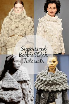 Bobbles supersized | inspiration, tutorials and free patterns