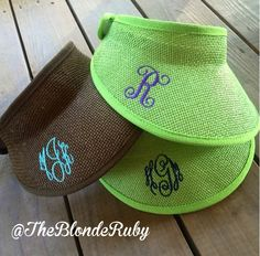 Monogrammed visor @TheBlondeRuby