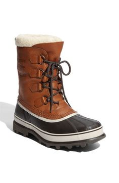 Sorel 'Caribou' Wool Lined Waterproof Boot $150 These are adorable. I would just dance around in my office in them. No snow here, but totally worth it anyways.
