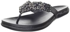 Kenneth Cole REACTION Womens GlamA SandalBlack85 M US -- Learn more by visiting the image link.