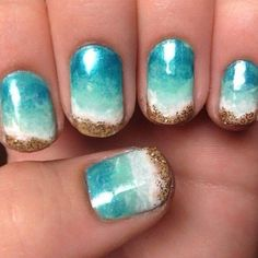 Beach Manicure 15 Must Try Blue Manicures For Summer