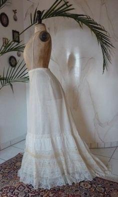 antique petticoat, petticoat 1908, petticoat 1905, antique underskirt, antique skirt, antique dress, antique lingerie, lingerie 1905, lingerie 1908
