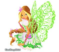 Flora Fairy of Nature Butterflix by HimoMangaArtist.deviantart.com on @DeviantArt