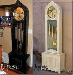 Twice Lovely: French Painted Grandfather Clock Old Furniture, Repurposed Furniture, Furniture Making, Furniture Makeover, Painted Furniture, Furniture Projects, Bedroom Furniture, Diy Projects, Furniture Refinishing
