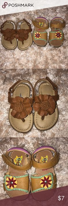 Toddler Girl Sandals Super cute toddler sandals in excellent condition. Cherokee Shoes Sandals & Flip Flops