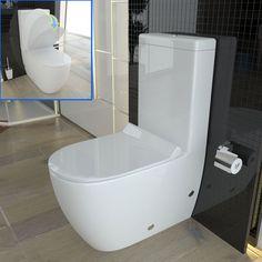 Stand-WC mit Spülkasten GEBERIT Spülgarnitur Keramik Toilette Duroplast WC Sitz