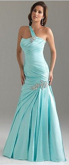 I love the color and style! However I would make the neckline a sweetheart and leave off the shoulder strap.