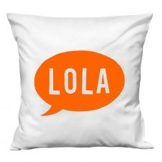 Speech bubble personalised cushion cover in white