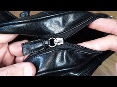 The zip in your favourite bag or jumper is broken and you are wondering if it is possible to mend it without replacing the whole item. The good news is that . Sewing Hacks, Sewing Tutorials, Fix Broken Zipper, Zipper Repair, Youtube, Diy Clothes, Leather Bag, Chanel, Bags