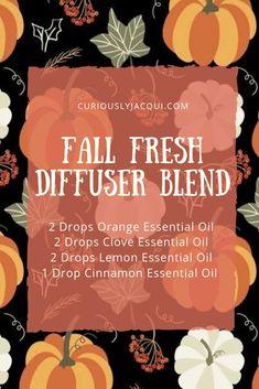Fall Essential Oils, Clove Essential Oil, Cinnamon Essential Oil, Essential Oil Diffuser Blends, Essential Oil Uses, Young Living Essential Oils, Essential Oil Combinations, Diffuser Recipes, Living Oils