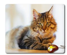 funny CAT oil painting mousepad Computer Mouse pad Mouse Mat Cool Mouse Pad Office Accessories Office mouse pad Office gifts Cat lover gift