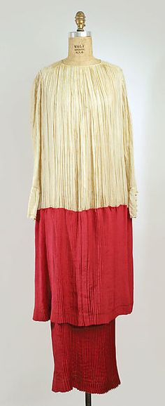Afternoon dress (image 1) | Callot Soeurs | French | 1915 | cotton, silk | Metropolitan Museum of Art | Accession Number: 1978.184.6