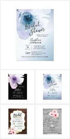 BRIDAL SHOWER INVITATIONS CARDS Unique Bridal Shower invitations cards with different designs such as rustic, vintage, floral, pink, shabby chic, modern, elegant, stripes.... Easy DIY (do it yourself) templates! Fun wedding invites. Customize invitations for your weddings. #invitations #invites #weddings   #bridal - Affiliate ad link.