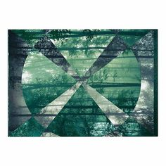 KESS InHouse Matt Eklund 'Foliage' Green Geometric Dog Place Mat, 13' x 18' ** Remarkable product available now. : Dog food container