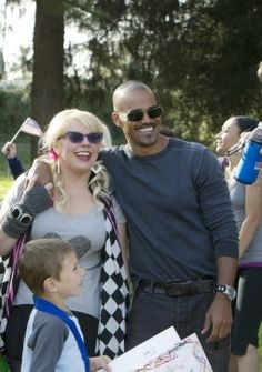"""✯SHEMAR MOORE with his """"Baby Girl"""" Penelope Garcia, aka Kirsten Vangsness✯They need to get together, even if its just once on the show!"""