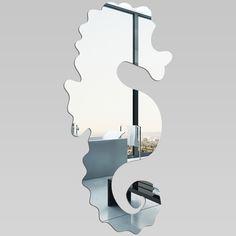 Wandspiegel aus Acrylglas Seepferdchen
