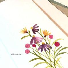 Watercolor Beginner, Watercolor Paintings For Beginners, Watercolor Art Lessons, Watercolor Video, Watercolor Projects, Watercolor Cards, Floral Watercolor, Watercolor Flowers Tutorial, Watercolour Tutorials