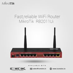Fast,reliable WiFi Router Mikrotik RB2011Ui now available with Iconic Inc. theiconicinc@gmail.com