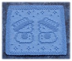 Ravelry: Snow Buddies Dishcloth pattern by Rachel van Schie Knitted Squares Pattern, Knitted Dishcloth Patterns Free, Knitting Squares, Knitted Washcloths, Knit Dishcloth, Loom Knitting, Knitting Stitches, Free Knitting, Knitting Patterns Free
