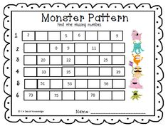 The Day the monsters came to school... this week's freebie from the Sea of Knowledge! :)