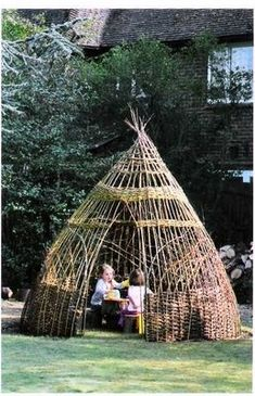 Basket-style Teepee for the garden