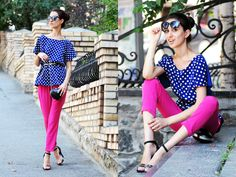 More in ma blog- http://tina-sblog.blogspot.com/2012/08/look-of-day-polka-dots-and-fuchsia.html