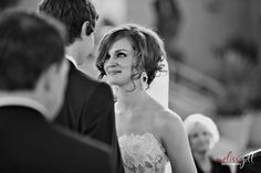 love the expression in this ceremony photo.... by Melissa Jill Photography
