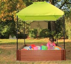 Square Sandbox Canopy Cover [ID 3083879] & Square Sandbox Kit 4ft. X 4ft. X 5.5in. w/ Telescoping Canopy ...