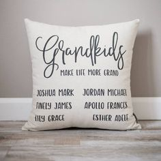 Couple Gifts For Him – Modern Home Personalized Pillows, Custom Pillows, Diy Pillows, Cushions, Grandchildren, Grandkids, Ldr Gifts, Special Gifts For Him, Grandmother Gifts