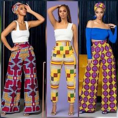 African pants 3 ways African Fashion Ankara, African Inspired Fashion, Latest African Fashion Dresses, African Dresses For Women, African Print Fashion, Africa Fashion, African Attire, African Wear, Nigerian Fashion