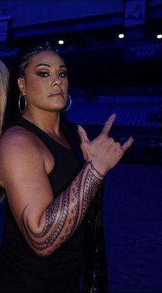 Tamina Snuka's Tattoo Tamina Snuka, S Tattoo, Falling In Love, Wwe, Superstar, Diva, It Cast, Wrestling, Characters