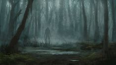 Creepy forest, Maria Serova on ArtStation at https://www.artstation.com/artwork/NGa5J