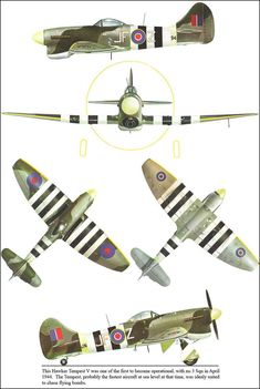 Hawker Tempest V Ww2 Aircraft, Fighter Aircraft, Military Aircraft, Hawker Tempest, Hawker Typhoon, Aircraft Painting, Ww2 Planes, Aviation Art, Panzer