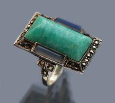 Art Deco Ring, Art Deco Jewelry, Jewelry Design, Antique Jewelry, Vintage Jewelry, Bohemia Jewelry, Art Nouveau, Marcasite Jewelry, 1920s