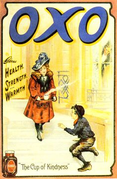 OXO Vintage Ephemera, Vintage Ads, Vintage Posters, Vintage Food, Retro Images, Retro Recipes, Old Ads, Brown And Grey, Gray