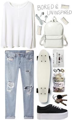 """Bored & Uninspired"" by dreamingsouls ❤ liked on Polyvore"
