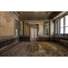 This Abandoned Casino Was Once The Most Magnificent Building In... ❤ liked on Polyvore featuring room and backgrounds
