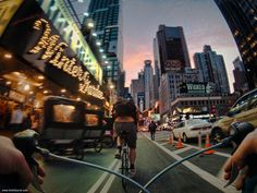 New York through the eyes of a road bicycle, a great project from Tim Sklyarov.