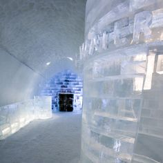 Art Suites at the Icehotel in Jukkasjärvi, Sweden, created by artists from around the world. The temporary hotel is created from snow and ice each winter Travel Around The World, In This World, Ice Hotel Quebec, Ice Hotel Sweden, London Paris Rome, Ice Bars, Ice Houses, Snow Art, Ice Ice Baby