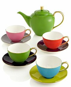 kate spade new york Tea Set, Greenwich Grove Collection - Casual Dinnerware - Dining & Entertaining - Macy's