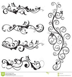 Collection Of Vintage Floral Silhouette Designs - Download From Over 30 Million High Quality Stock Photos, Images, Vectors. Sign up for FREE today. Image: 31351133