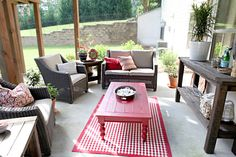 I would love to have an outdoor living room space   via bowerpowerblog.com