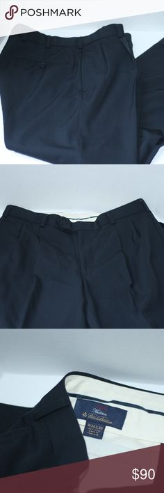 """Brooks Brothers """"Madison"""" Pants Size 34/30 PreLoved but in excellent used condition, Brooks Brothers """"Madison"""" pants. Size W34/L30. 100% Wool. Approx 39.5"""" from waist to hem and inseam is approx. 29"""". Color Black. Brooks Brothers Pants Dress"""