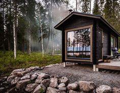 Sauna Design, Cabin Design, Lakeside Cottage, Cozy Cottage, Small Summer House, Sauna House, Outdoor Sauna, Weekend House, Plantation Houses