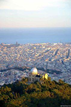 der Sternwarte Fabra, mit Barcelona vor den Füßen - Katalonien.