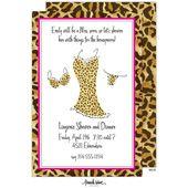 Lingerie Bridal Shower Invitations, Wild Leopard Lingerie, 20909